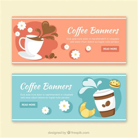 design banner coffee shop coffee banners in design vector free download