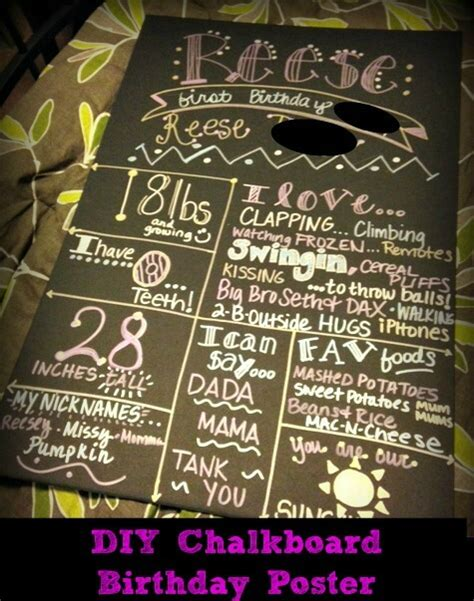 diy chalkboard birthday diy chalkboard birthday poster