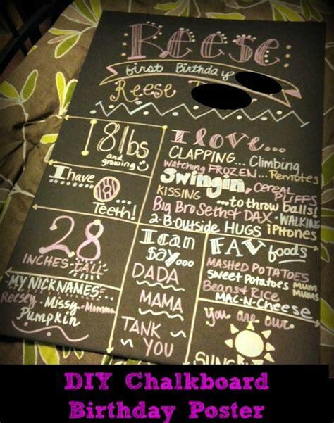 diy chalkboard poster diy chalkboard birthday poster