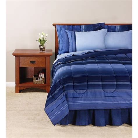 ombre bedding sets mainstays coordinated bedding set ombre stripe