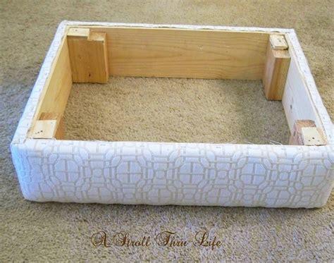 how to build an ottoman a stroll thru life how to make upholster an ottoman