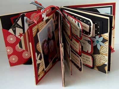 How To Make Handmade Photo Albums - combination mini album with handmade envelopes used for