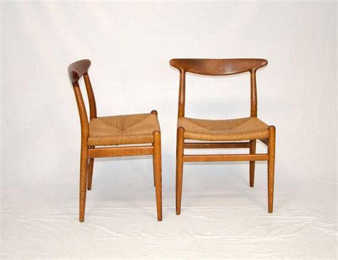 Wegner Dining Chair Set Of Eight Hans Wegner Dining Chairs Model W2 By C M Madsens At 1stdibs