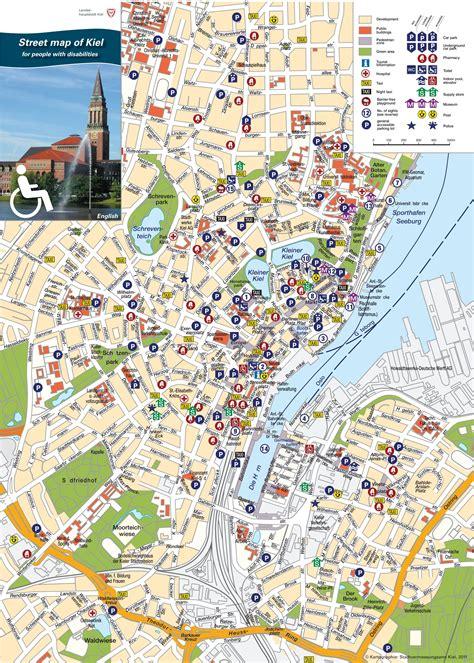 tourist map germany kiel tourist map
