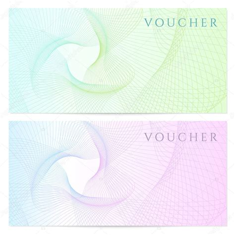 background voucher gift certificate voucher coupon template with colorful