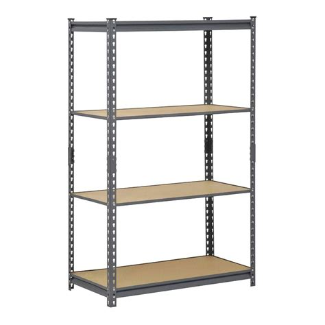 shelves at home depot edsal 60 in h x 36 in w x 18 in d 4 shelf steel commercial shelving unit in gray ur361860