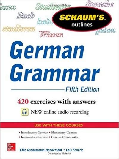 schaum s outline of german grammar