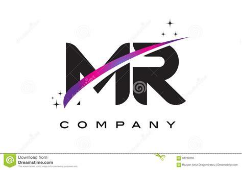 m r logo design mr m r black letter logo design with purple magenta swoosh