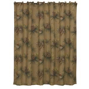 crestwood pine cone shower curtains