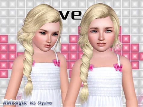 sims 4 tsr child hair skysims hair 192