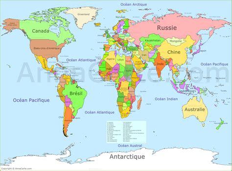 la carte et le carte du monde annacarte com
