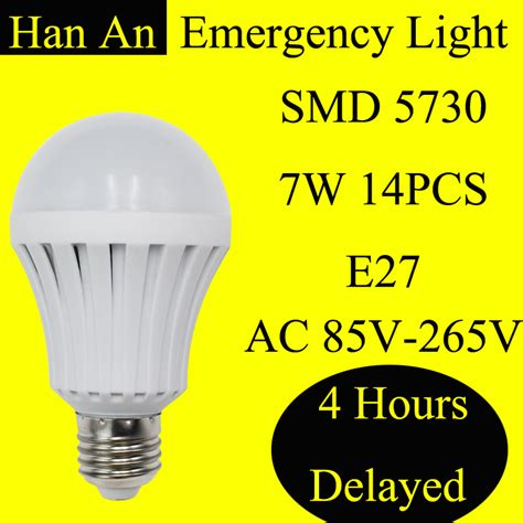 Yanuo Rechargeable Emergency Bulb Light White emergency lighting smd 5730 ac220v e27 7w rechargeable