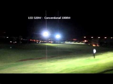 led lighting course golf course led lighting comparison with metal halide