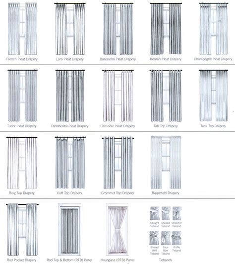 window curtain types 12 best images about pillow and drapery styles on