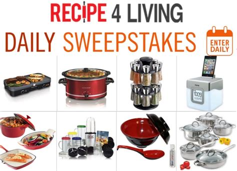 recipe4living daily sweepstakes sweepstakesbible