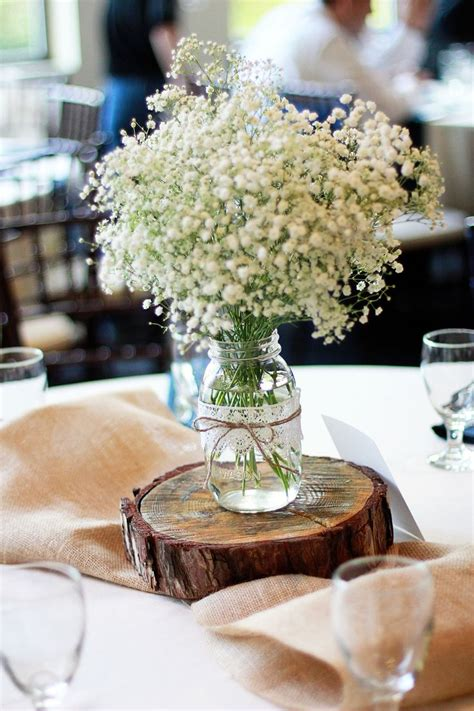 babies breath wedding centerpiece samantha lupo