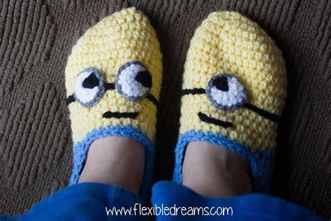 minion crochet slippers crochet minion slippers copycat crafts