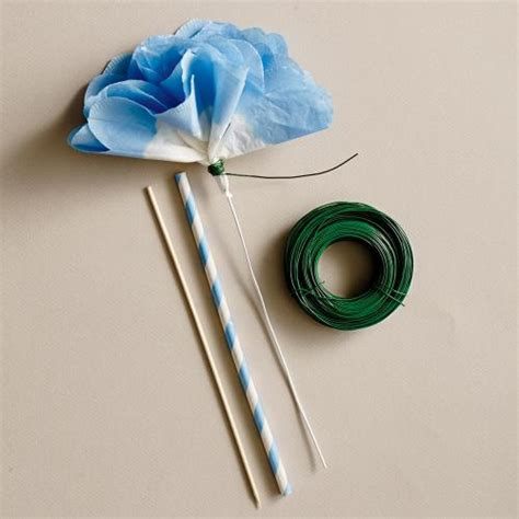How To Make Paper Flowers With Stems - 3 attach stem how to make paper flowers cooking light