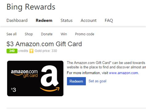 Bing Amazon Gift Card - wny deals and to dos bing com rewards free 3 00 amazon gift card