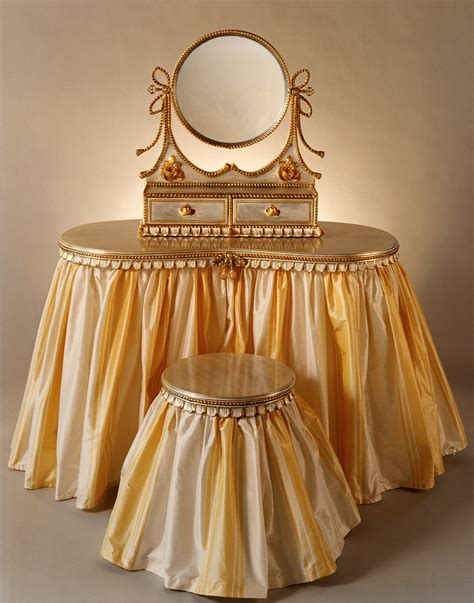 Vanity Skirts by Flounced Vanity With Clear Glass Top Carvers Guild