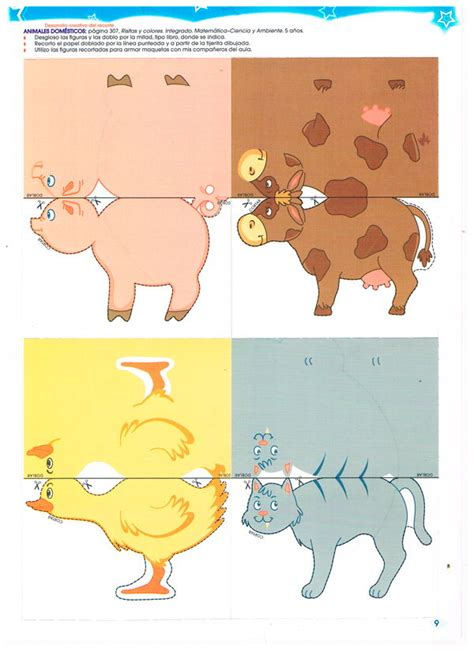 imagenes en 3d para recortar y armar im 225 genes de animales dom 233 sticos en 3d para recortar para