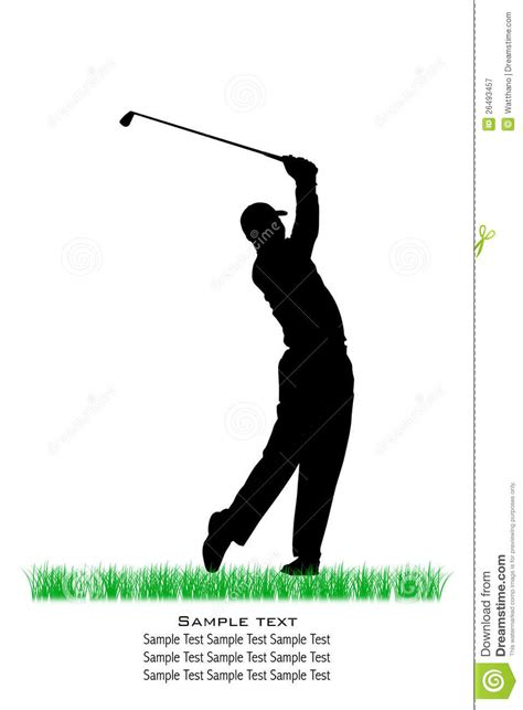golf swing vector vector golfer silhouettes royalty free stock photography