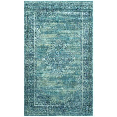 safavieh vintage turquoise multi 2 ft 2 in safavieh vintage turquoise multi 2 ft 7 in x 4 ft area rug vtg112 2220 24 the home depot