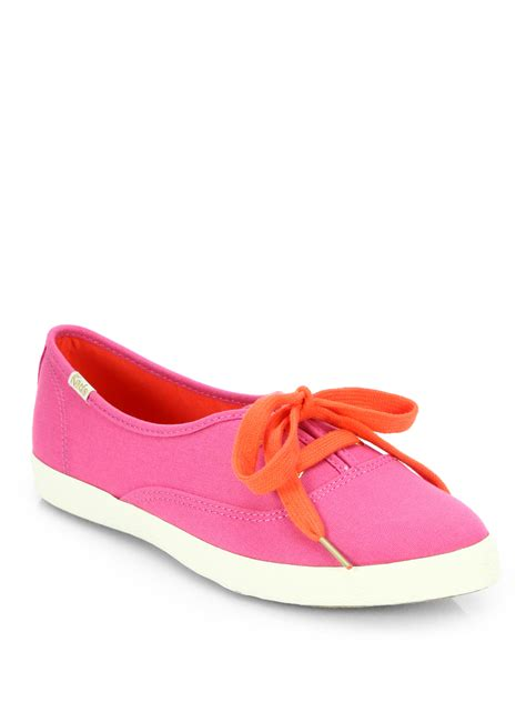Keds Kate Spade kate spade pointer canvas keds sneakers in pink lyst
