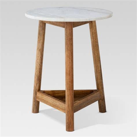 wooden table target lanham marble top side table threshold target pertaining