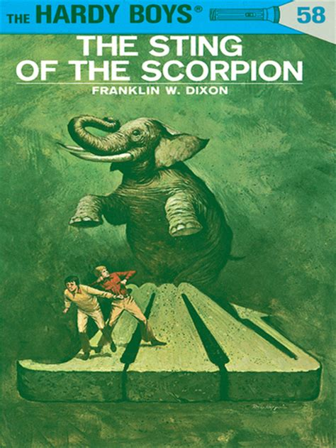 the sting of the books the sting of the scorpion hardy boys series book 58 by