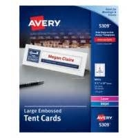 avery ink jet tent cards 8309 template avery large printable embossed tent cards