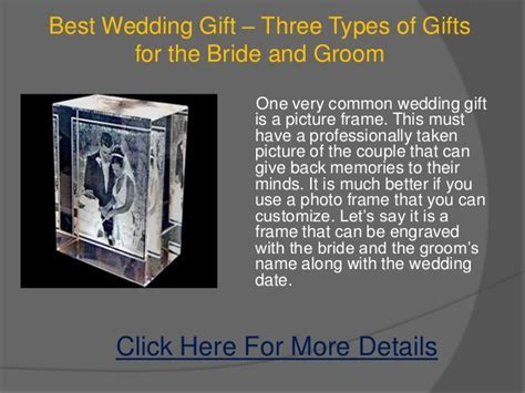Best wedding gift ? three types of gifts