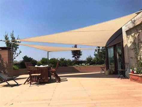 tende da sole triangolari beautiful tende a vela triangolari su terrazzo di