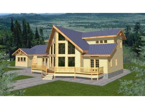 chalet style home plans home plan homepw26976 2288 square foot 3 bedroom 2 bathroom chalet home with 2 garage bays