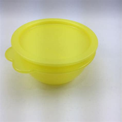 Tupperware Prism Collection Set Yellow Activity tupperware vintage small yellow bowl with one touch seal the tupperware