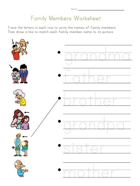 new 357 family members vocabulary worksheets pdf family