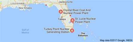nuclear power plants in florida map could hurricane irma turn florida s nuclear plants into an