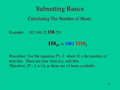 subnetting calculation tutorial subnetting basics tutorial
