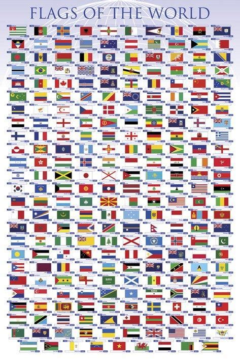 flags of the world poster flags posters flags of the world poster pp32755 panic