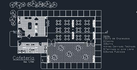 coffee bar  floor plans  dwg design section