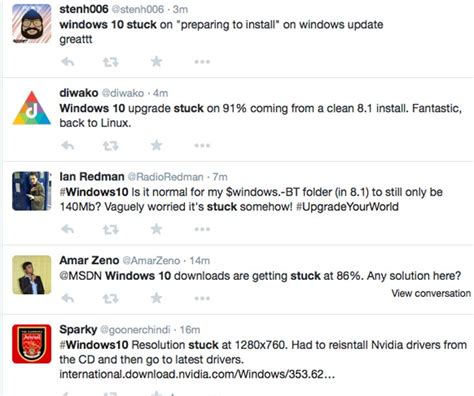 install windows 10 stuck windows 10 update getting stuck for some product reviews net