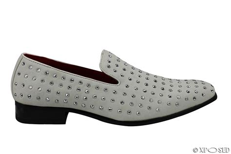 Studed Loafer Shoes rossellini mens suede spiked loafer faux leather studded