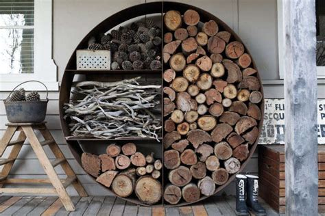 easy pieces firewood  log storage remodelista