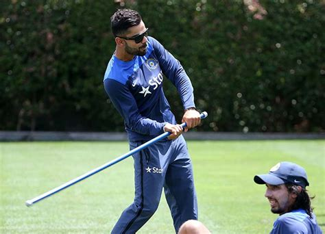 swinging sticks india ms dhoni joins team india s training session at scg