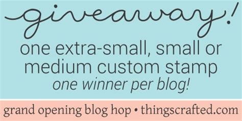 Grand Opening Giveaway - thingscrafted grand opening blog hop giveaway jennifer mcguire ink