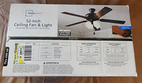mainstays ceiling fan mainstays 52 inch ceiling fan light bronze finish