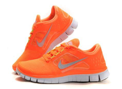 orange nike running shoes nike free run 3 running shoe womens total orange silver
