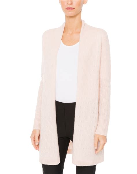 pink knit cardigan pale pink cable knit cardigan cortland