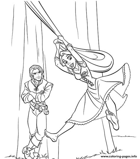 flynn and rapunzel s printable tangled1b14 coloring pages