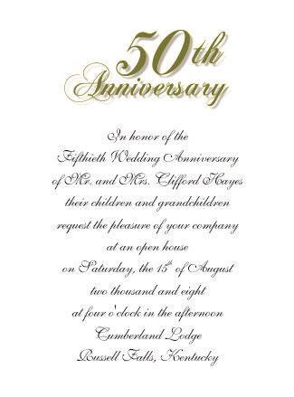 50th wedding anniversary card templates 50th wedding anniversary invitations